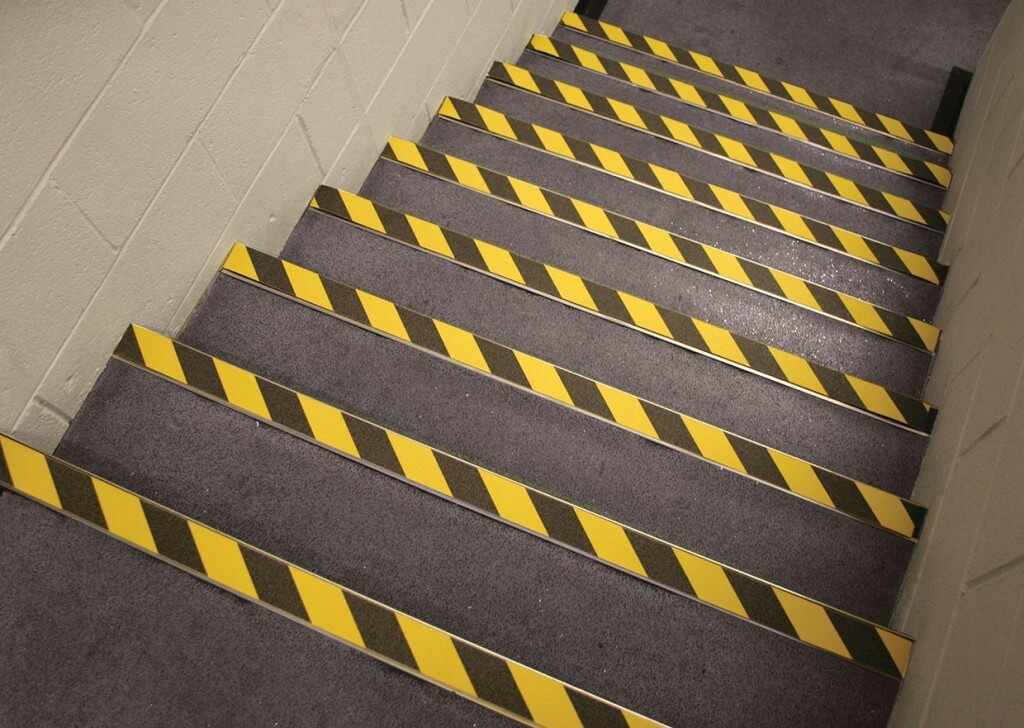 Strips to make stairs less slippery